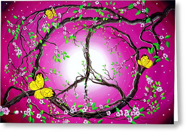 Peace Symbol Greeting Cards - The Dawn of Peace Greeting Card by Laura Iverson
