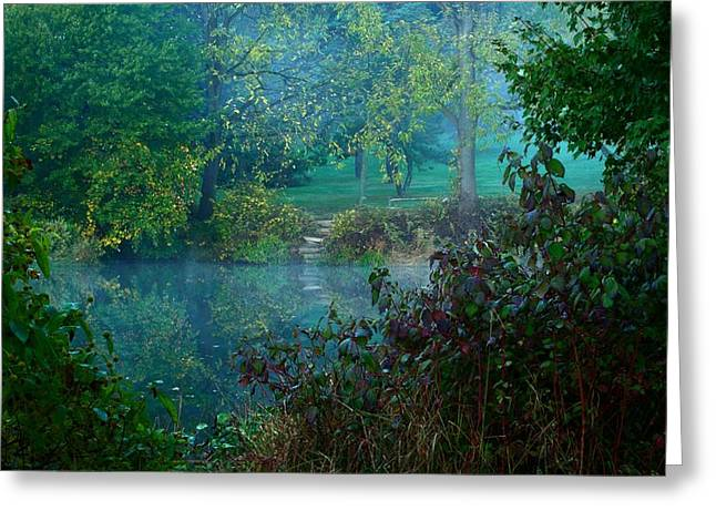 Holmdel Greeting Cards - The Dawn Of Tranquilty Greeting Card by Angie Tirado
