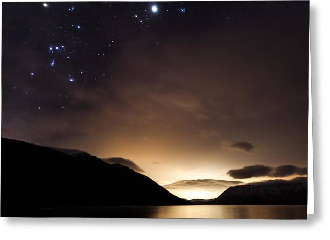 Constellations Greeting Cards - The Dawns Early Light Greeting Card by Aaron Aldrich