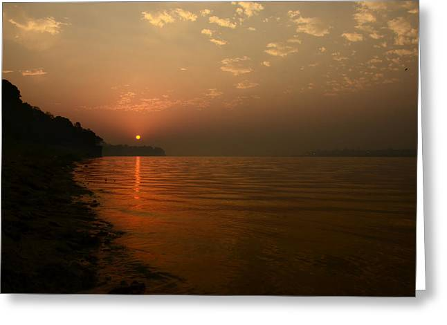Confluence Greeting Cards - The Day Begins... Greeting Card by Rohit Chawla
