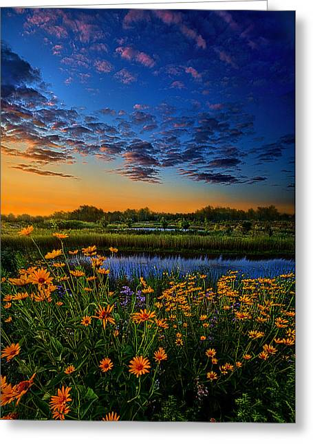 Twilight Greeting Cards - The Day Is Coming Greeting Card by Phil Koch