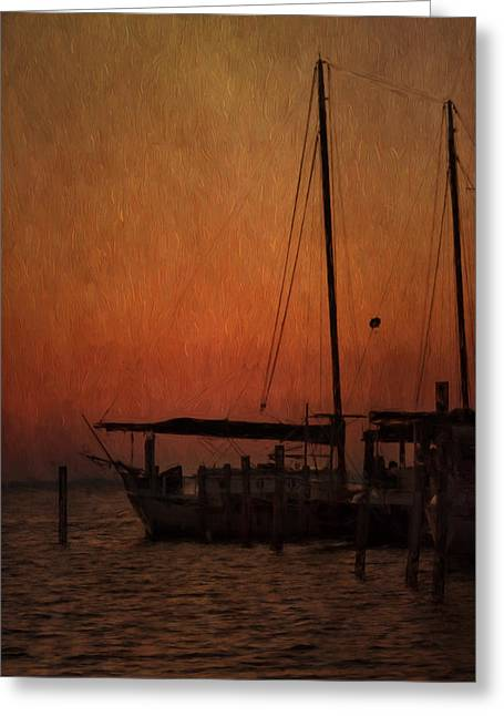 Sailboats Docked Greeting Cards - The Day is Done Greeting Card by Kim Hojnacki