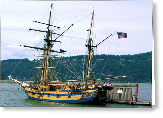 Sea Going Greeting Cards - The days of sails Greeting Card by Jeff  Swan