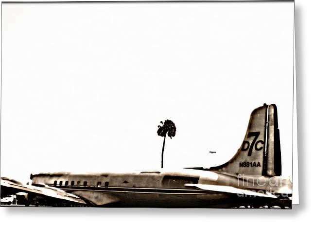 The Dc7 Greeting Card by Steven  Digman