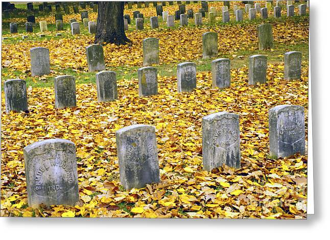 Antietam Greeting Cards - The Dead at Antietam Greeting Card by Paul W Faust -  Impressions of Light