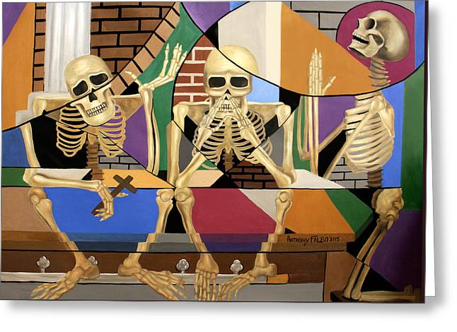 Coffin Greeting Cards - The Dead In Christ 1 Thessalonians 4-16 Greeting Card by Anthony Falbo