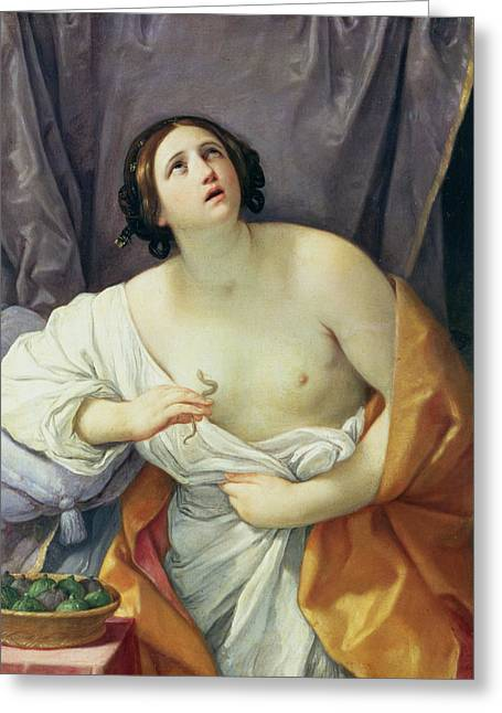 Poisonous Greeting Cards - The Death of Cleopatra Greeting Card by Guido Reni