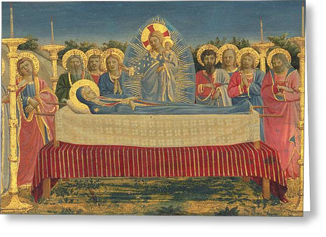 Bible Greeting Cards - The Death of the Virgin Greeting Card by Fra Angelico
