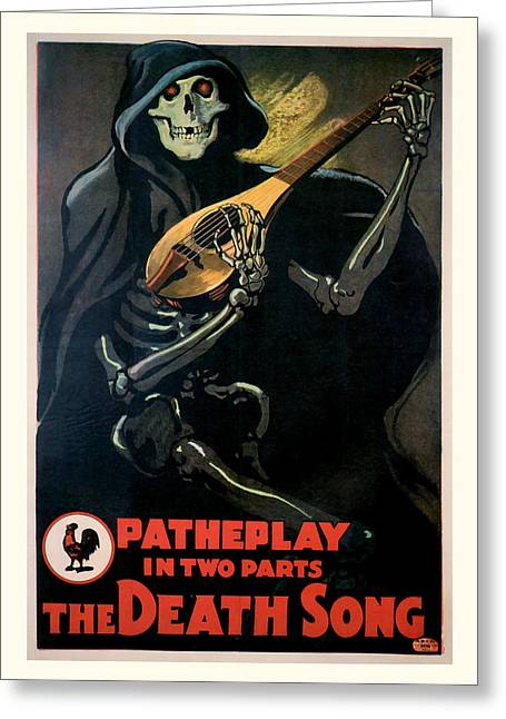 Classic Hollywood Mixed Media Greeting Cards - The Death Song 1913 Vintage Movie Poster Greeting Card by Presented By American Classic Art