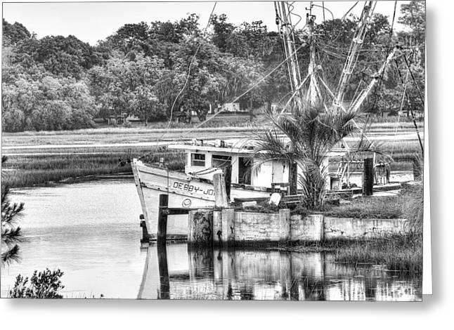 The Debbie-john Shrimp Boat Greeting Card by Scott Hansen