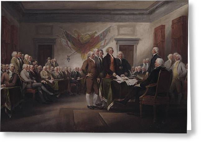 The Declaration Of Independence, July 4, 1776 Greeting Card by John Trumbull