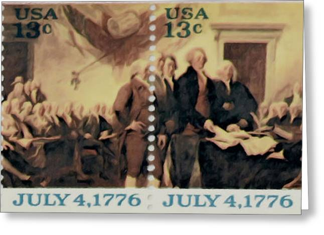 The Declaration of Independence  Greeting Card by Lanjee Chee