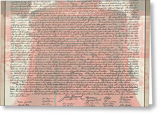 Liberty Bell Greeting Cards - The Declaration of Independence Greeting Card by Stephen Stookey