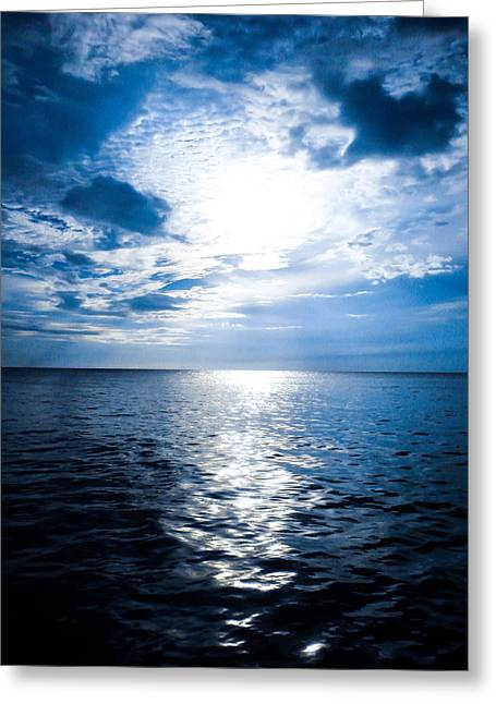 Jamaican Sunset Greeting Cards - The Deep Blue Greeting Card by Todd Reese