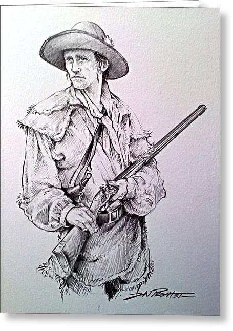 Jeff Drawings Greeting Cards - The deerslayer Greeting Card by Jeff Prechtel