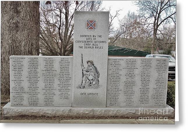 Civil Greeting Cards - The DeKalb Rifles Memorial Greeting Card by Anita Faye