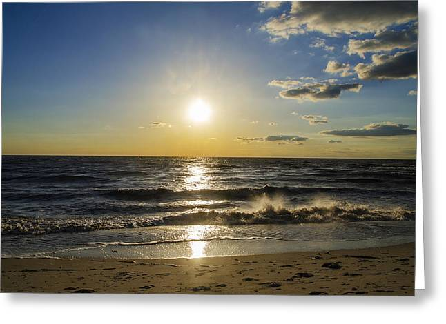Delaware Digital Art Greeting Cards - The Delaware Bay at Sunset - Villas New Jersey Greeting Card by Bill Cannon