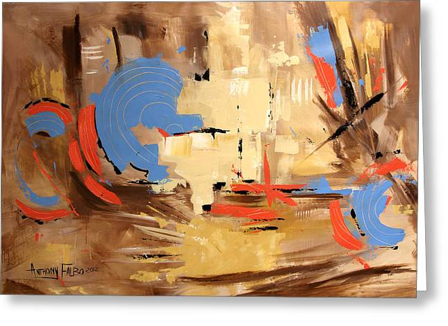 Christian Abstract Art Greeting Cards - The Deliverer Will Come From Zion Greeting Card by Anthony Falbo