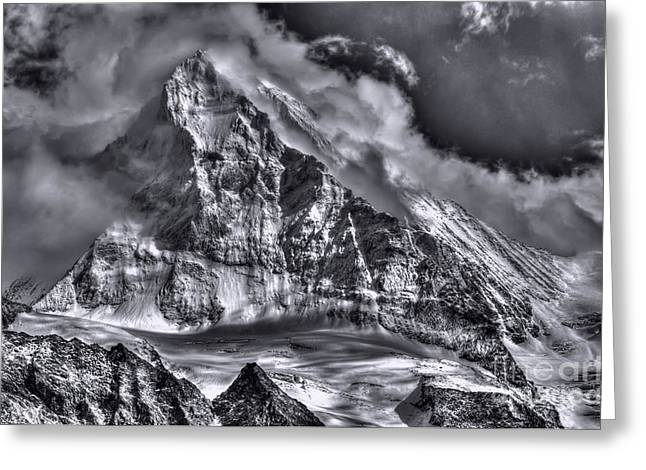 Swiss Photographs Greeting Cards - The Dent Blanche Switzerland Greeting Card by Colin Woods