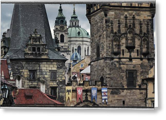 Nicholas Greeting Cards - The Depths of Prague Greeting Card by Joan Carroll
