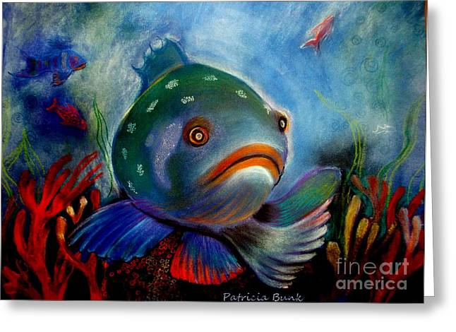 Tropical Oceans Pastels Greeting Cards - The Depths of the Great Blue Greeting Card by Patricia Bunk