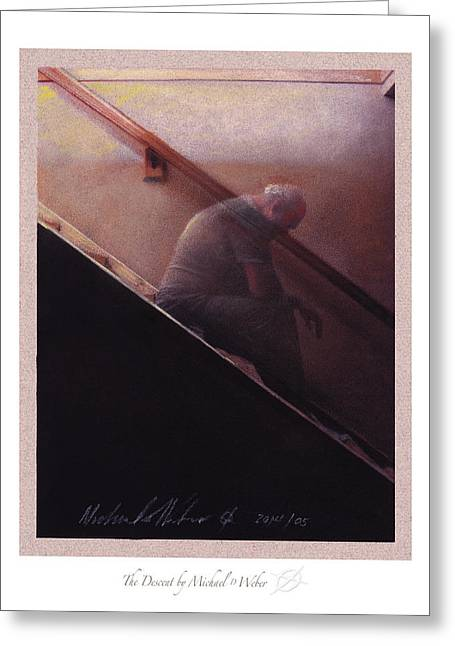 Collection Pastels Greeting Cards - The Descent Greeting Card by Michael  Weber