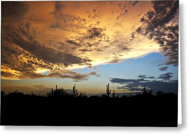 Monsoon Clouds Greeting Cards - The Desert Sky  Greeting Card by Saija  Lehtonen