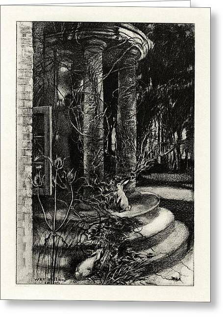 1916 Drawings Greeting Cards - The Deserted House Greeting Card by Celestial Images