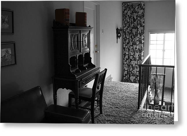 Interior Still Life Photographs Greeting Cards - The Desk Greeting Card by Cheryl Young