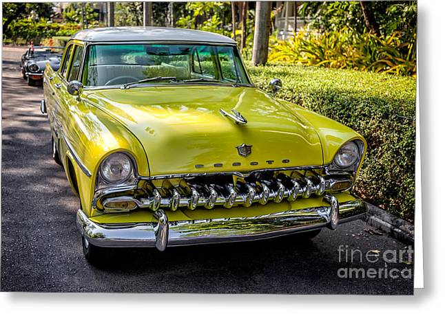 Window Panes Greeting Cards - The DeSoto  Greeting Card by Adrian Evans