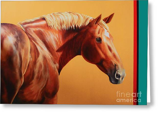 Charice Cooper Greeting Cards - The Destrier Greeting Card by Charice Cooper