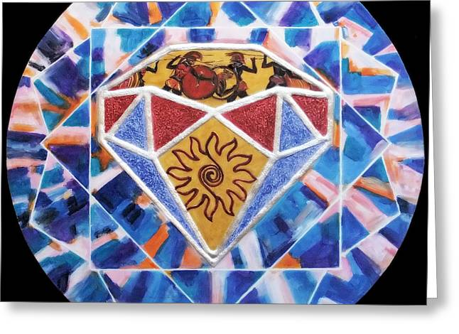 Colorful Reliefs Greeting Cards - The diamond of civilization Greeting Card by Anna Maria Guarnieri
