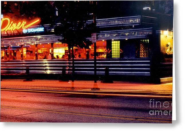 The Diner On Sycamore Greeting Card by Gary Gingrich Galleries