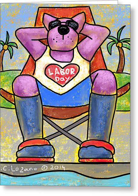 Labor Day Greeting Cards - Love is Practicing Self Love Greeting Card by Yvonne Lozano