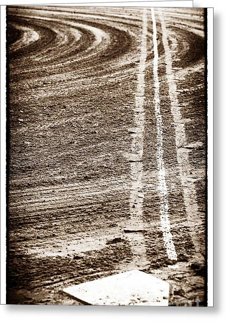 The Dirt Field Greeting Card by John Rizzuto
