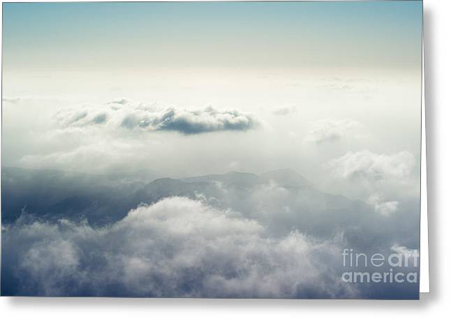 Above The Clouds Greeting Cards - The Disappearing Landscape Greeting Card by Alexander Kunz