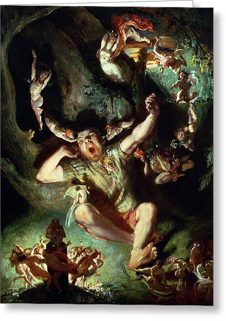 Daniel Paintings Greeting Cards - The Disenchantment of Bottom Greeting Card by Daniel Maclise