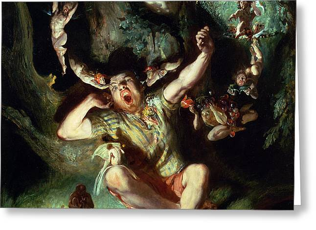 The Disenchantment of Bottom Greeting Card by Daniel Maclise