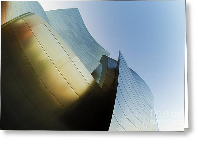 Metal Sheet Photographs Greeting Cards - The Disney Concert Hall 14 Greeting Card by Micah May