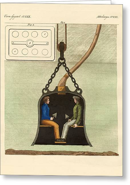 Diving Bell Greeting Cards - The diving bell Greeting Card by Splendid Art Prints