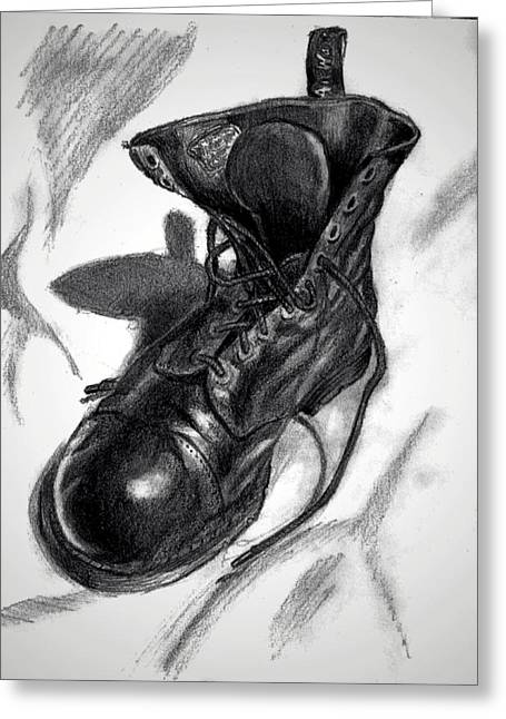 Light And Dark Drawings Greeting Cards - The Doc is in Greeting Card by Christopher Hodges
