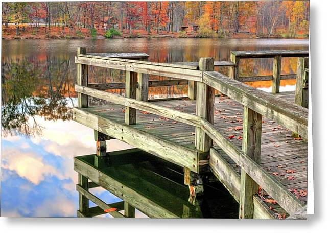 Hunting Camp Greeting Cards - The Dock Greeting Card by JC Findley