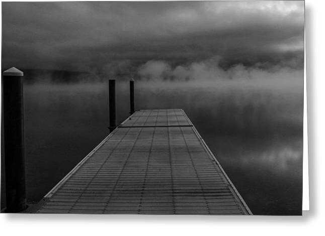 Apgar Greeting Cards - The Dock Greeting Card by Jessie Mazur