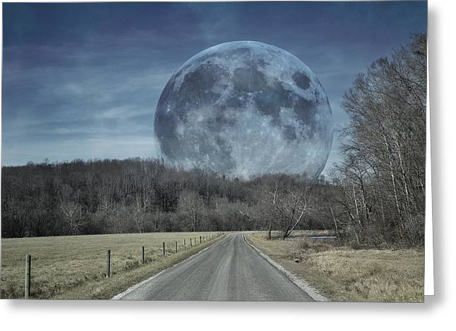 Super Moon Greeting Cards - The Doctors Light Three of Four Greeting Card by Betsy C  Knapp