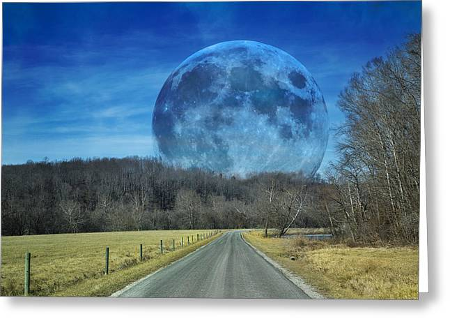 Super Moon Greeting Cards - The Doctors Light Two of Four Greeting Card by Betsy C  Knapp