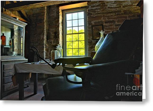 Spring Mill Greeting Cards - The Doctors Office Greeting Card by Adam Jewell
