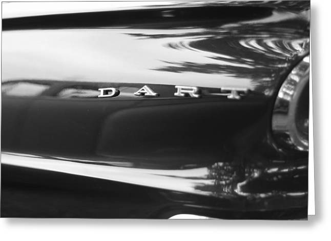 Rearview Greeting Cards - The Dodge Dart Greeting Card by Dan Sproul