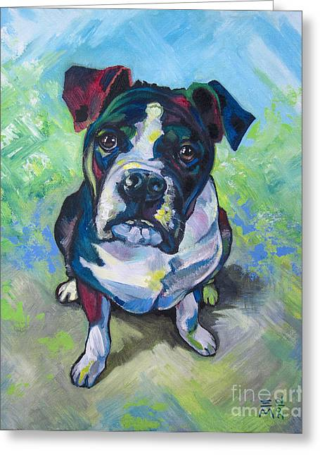 The Dog Greeting Card by Ellen Marcus