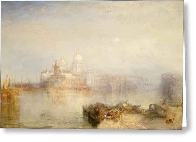 Venetian Architecture Greeting Cards - The Dogana And Santa Maria Della Salute, Venice, 1843 Oil On Canvas Greeting Card by Joseph Mallord William Turner