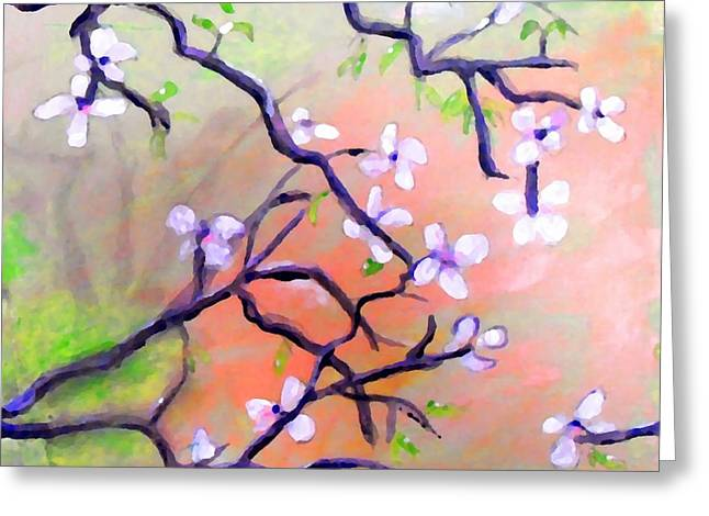 Cheer On Digital Greeting Cards - The Dogwood Greeting Card by Marcello Cicchini